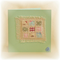 Patchwork Squares Blank Card