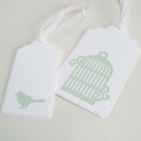 Pack of 8 Birdcage and Bird Gift Tags