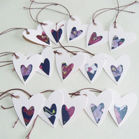 Pack of 15 Heart Shaped Gift or Wish Tree Tags