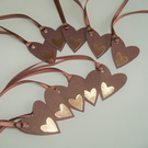Pack of 10 Heart Shaped Gift Tags