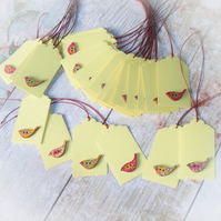 Reserved Listing for Jessica - Pack of 30 Pretty Little Bird Button Gift Tags