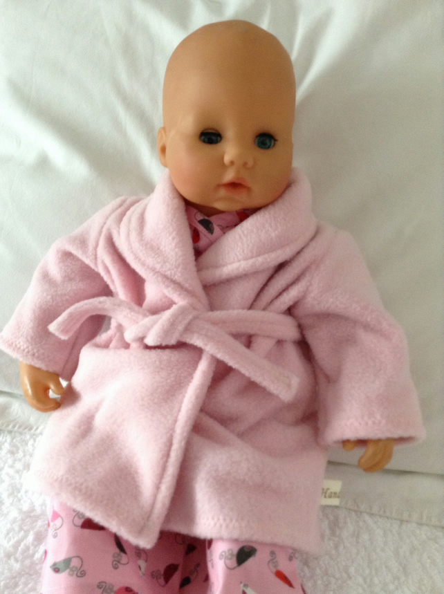 Dolls Clothes 46cm Dressing Gown Baby Annabell... - Folksy