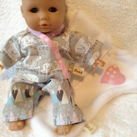 RESERVED ORDER Dolls Clothes 30cm 12 inch Pyjamas & Sleepsack