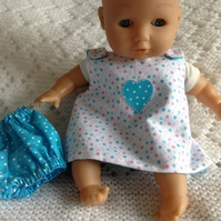 Dolls Clothes, 30cm Reversible Dress & Panties ELC Cupcake, Corolle etc Handmade