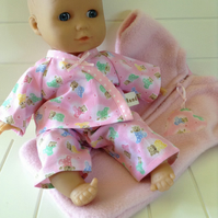 Dolls Clothes 30cm Pyjamas & Sleep Sack ELC Cupcake Corolle etc