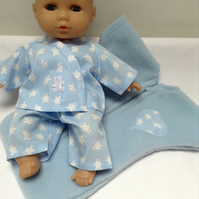 Dolls Clothes 30cm 12inch Pyjamas & Sleep Sack ELC Cupcake Corolle etc HandMade