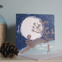 Midnight Hare Card