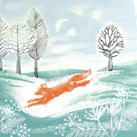 Run Foxy Run Greetings Card