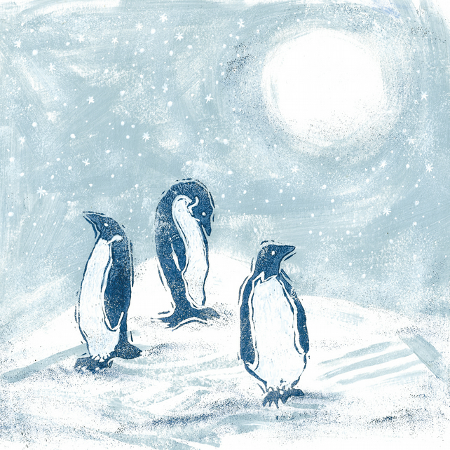 Polar Penguins Christmas Card