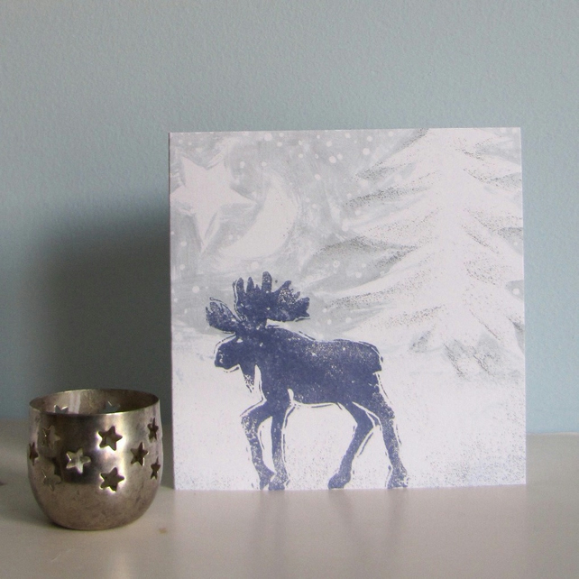 Mystic Moose Christmas Card