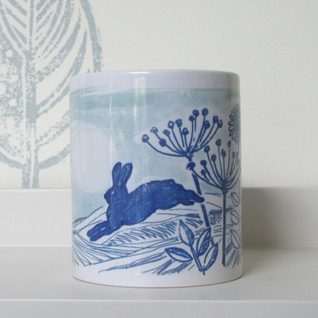 Blue Hare Ceramic Mug