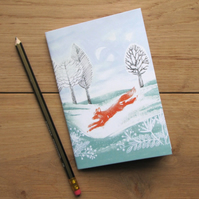 Run Foxy Run Small Notebook