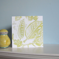 Peas in a Pod Greetings Card
