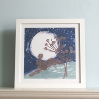 Midnight Hare Framed Print