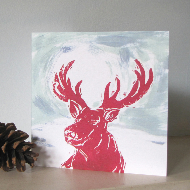 Dawn Stag Christmas Card