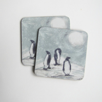 Penguins Coasters Set 4