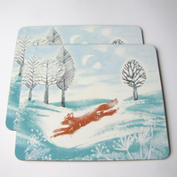 Run Foxy Run Placemats Set of 4