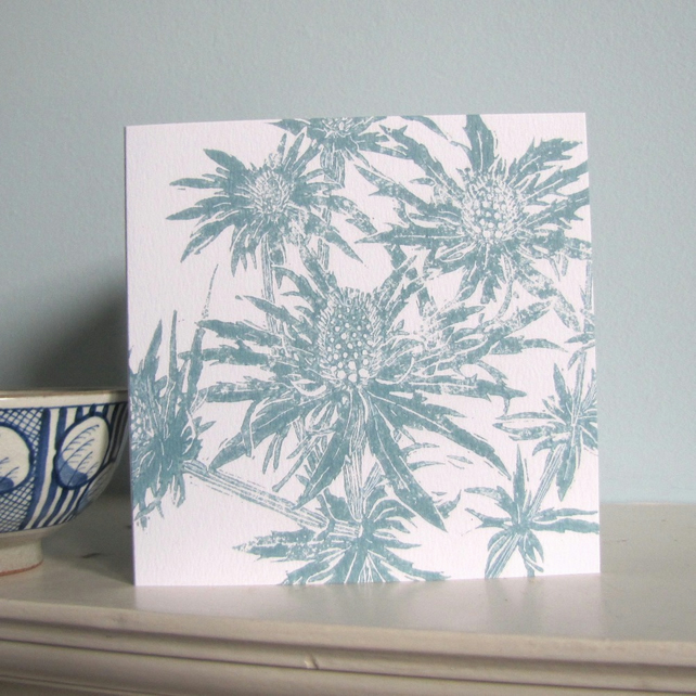 Sea Holly Greetings Card