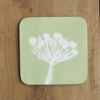 Green Seed Head Coaster