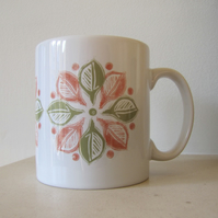 SALE - Orange Circle Leaf Mug