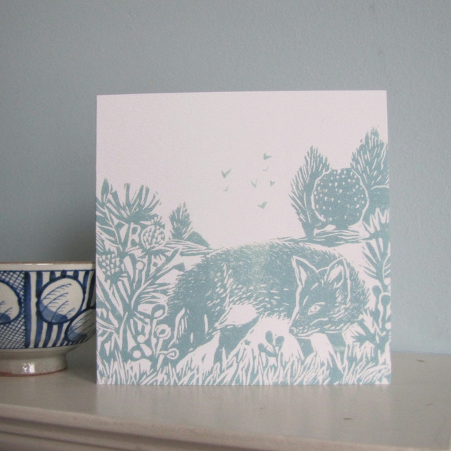 Flighty Fox Greetings Card