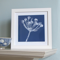 Blue Seed Head Giclee Print