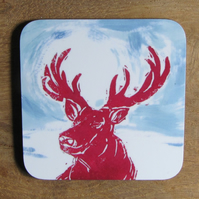 Dawn Stag Coaster