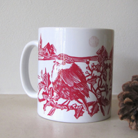 SALE - Christmas Robin Ceramic Mug