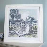 Gaggle of Geese Giclee Print