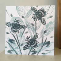 Busy Bees Greetings Card