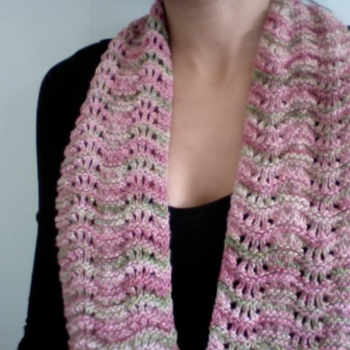 Rose Garden lace scarf