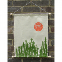 Screenprinted Wall Hanging - 'Forest'