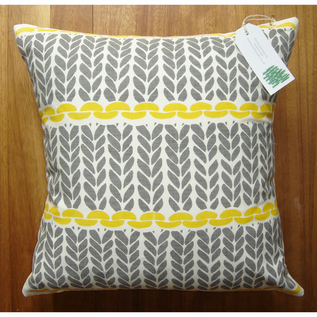 Knitting Pattern Cushion Cover - Folksy