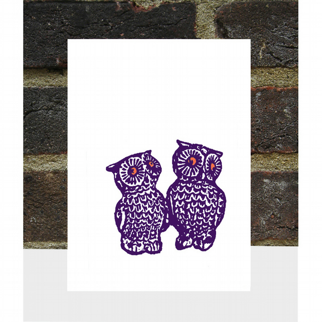 Pair of Owls Card
