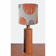 Lampshade - 'Curve' - Orange & grey