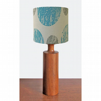 Lampshade - 'Curve' - Blue & grey