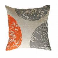 'Curve' Orange & Grey -  Cushion Cover
