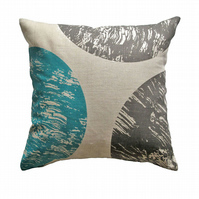 'Curve' Blue & Grey -  Cushion Cover