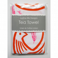 Turtle Doves Tea Towel