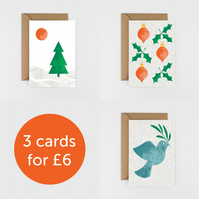 Christmas Card Pack of 3