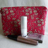 Liberty Fabric Make-up Bag