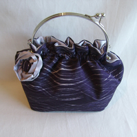 Frill Top Silk Evening Bag