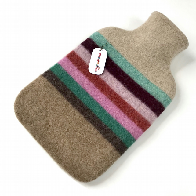 100 % Felted Merino Lambswool Hot water bottle