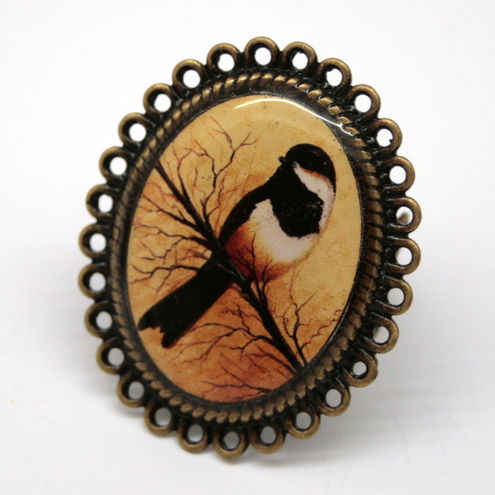 Little Black Bird Statement Ring