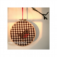 Robin Embroidery Hoop Kit Christmas decoration chicken scratch cross stitch