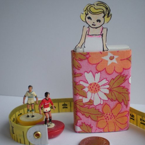 Custom Tiny Paper Doll in her travel Matchbox Room