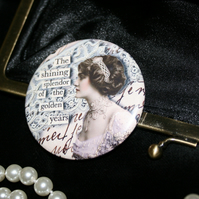 Vintage Edwardian lady  pocket mirror