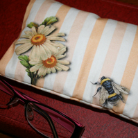 Bee and flower glasses case