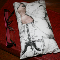 Sewing themed glasses case cover mannequin