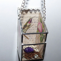 Hummingbird bird box hanging decoration